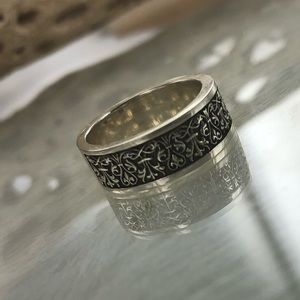 Unisex Solid 925 Sterling Silver Ring Size 7